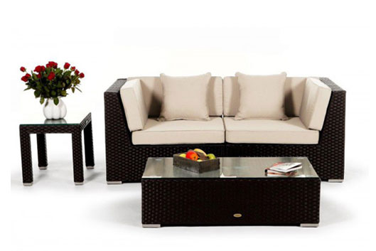 rattan sofa f r 2 personen im online shop kaufen rattan lounge. Black Bedroom Furniture Sets. Home Design Ideas