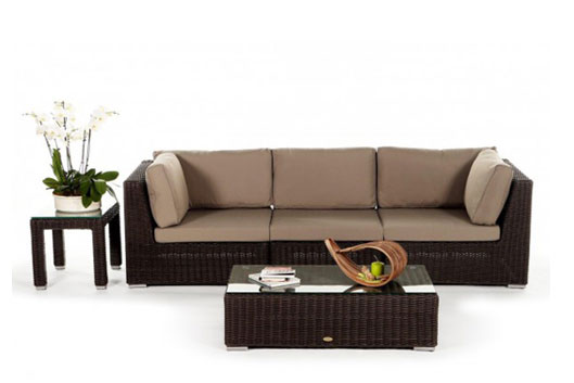 3er rattan sofa 3 pl tzige rattan lounge rattanm bel. Black Bedroom Furniture Sets. Home Design Ideas